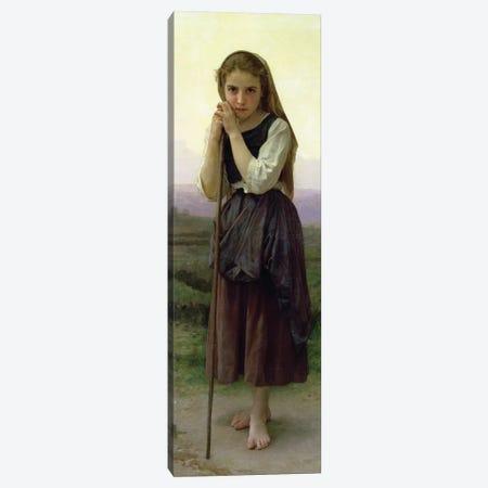 A Little Shepherdess, 1891  Canvas Print #BMN9873} by William-Adolphe Bouguereau Canvas Art