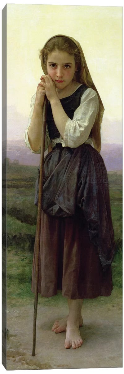 A Little Shepherdess, 1891  Canvas Art Print