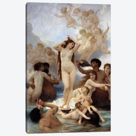 Birth of Venus. 1879 Canvas Print #BMN9874} by William-Adolphe Bouguereau Art Print