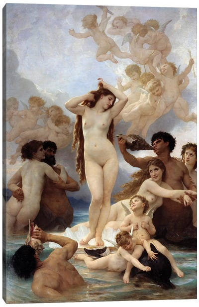 Birth of Venus. 1879 Canvas Art Print