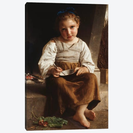 Gruel , 1872  Canvas Print #BMN9877} by William-Adolphe Bouguereau Canvas Art Print