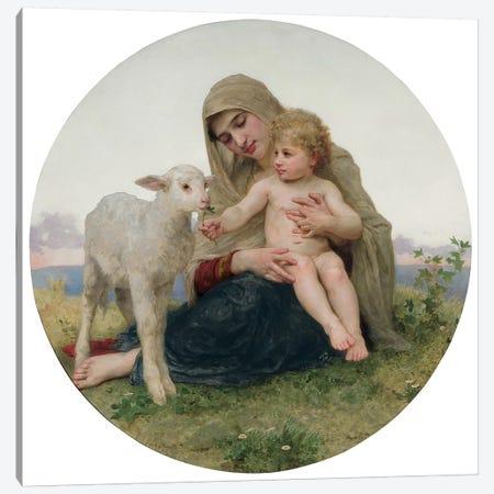 La Vierge avec l'Agneau, 1903  Canvas Print #BMN9879} by William-Adolphe Bouguereau Canvas Wall Art
