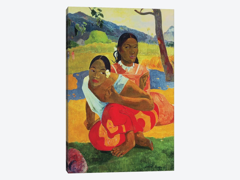 Nafea Faaipoipo  by Paul Gauguin 1-piece Canvas Artwork