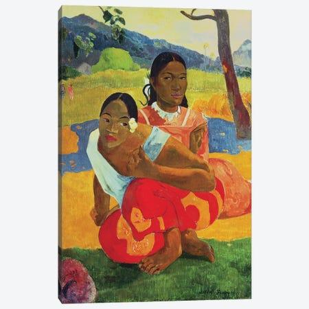 Nafea Faaipoipo  Canvas Print #BMN987} by Paul Gauguin Canvas Artwork
