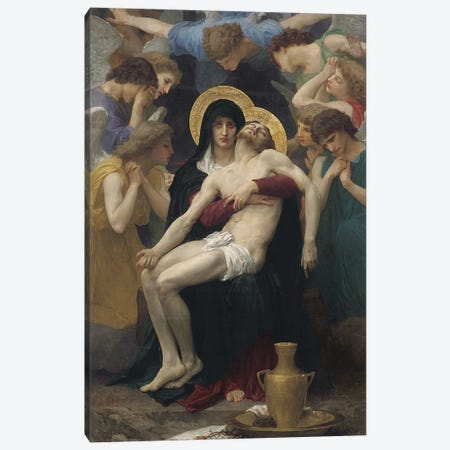 Pieta, 1876  Canvas Print #BMN9880} by William-Adolphe Bouguereau Canvas Art Print