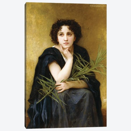 Reflection, 1898  Canvas Print #BMN9881} by William-Adolphe Bouguereau Canvas Art Print