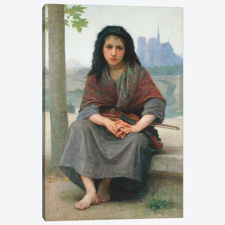 The Bohemian, 1890  Canvas Print #BMN9884} by William-Adolphe Bouguereau Canvas Artwork