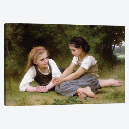 The Nut Gatherers, 1882  Canvas Print #BMN9885} by William-Adolphe Bouguereau Canvas Wall Art
