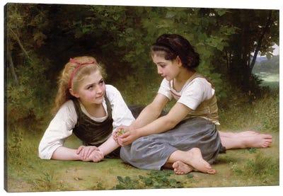 The Nut Gatherers, 1882  Canvas Art Print