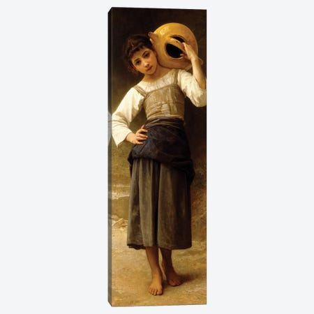 The Water Girl,  Canvas Print #BMN9886} by William-Adolphe Bouguereau Canvas Wall Art