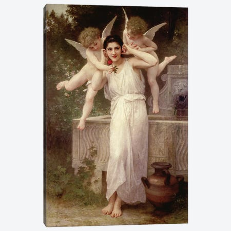 Youth  Canvas Print #BMN9888} by William-Adolphe Bouguereau Art Print