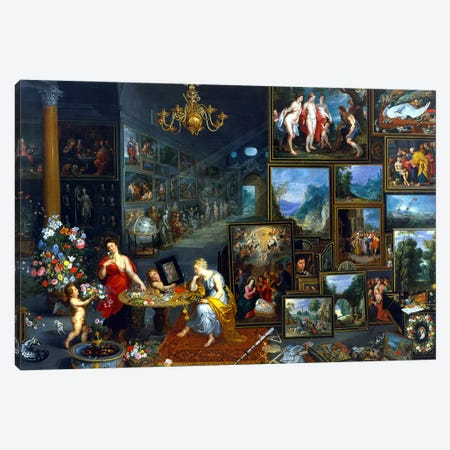 Sight and Smell  Canvas Print #BMN988} by Jan Brueghel the Elder Canvas Art Print