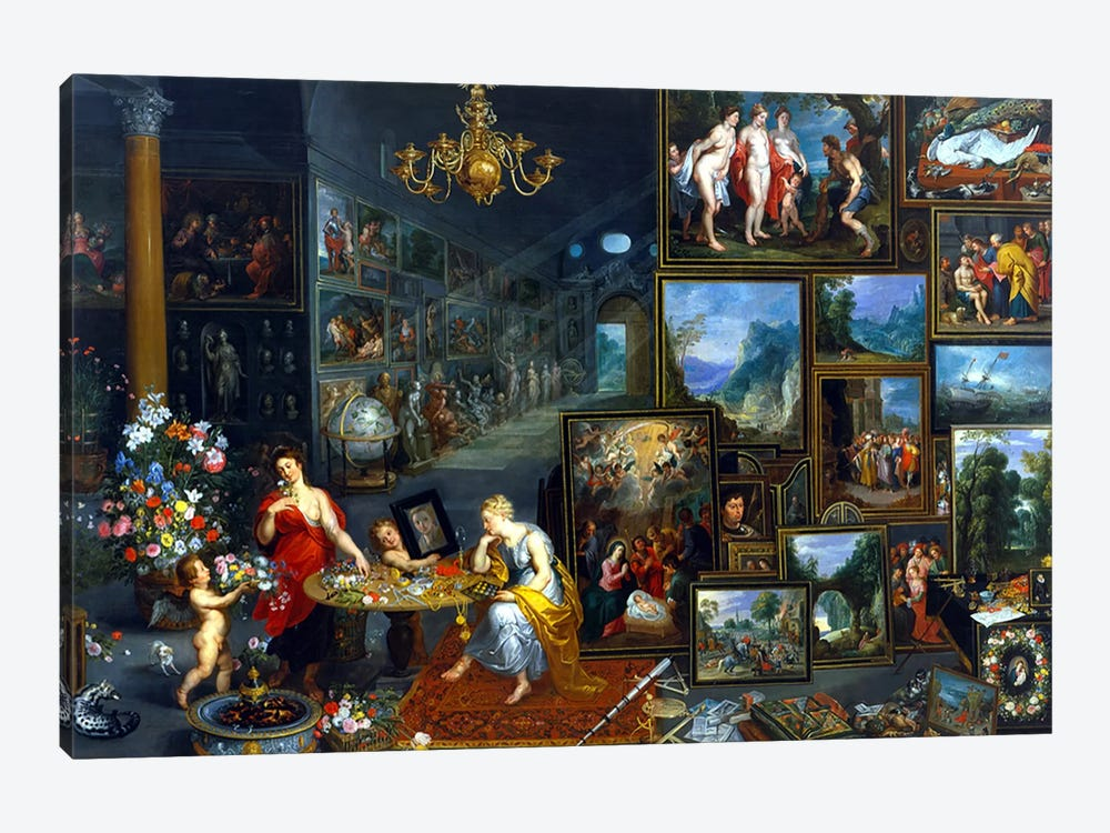 Sight and Smell  by Jan Brueghel the Elder 1-piece Canvas Art Print