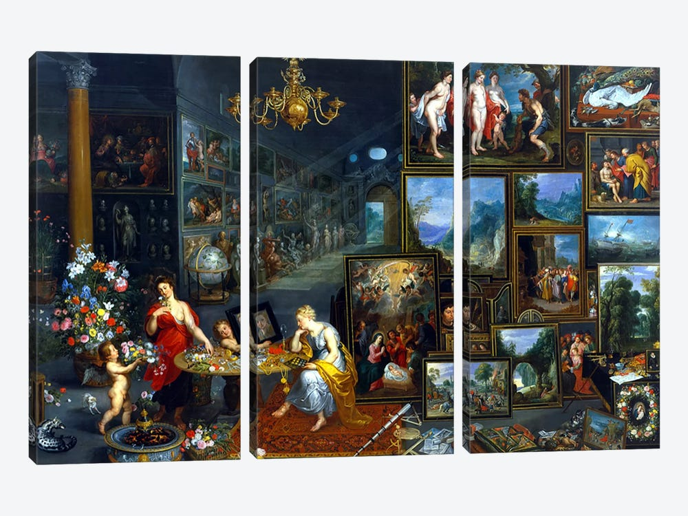 Sight and Smell  by Jan Brueghel the Elder 3-piece Canvas Print
