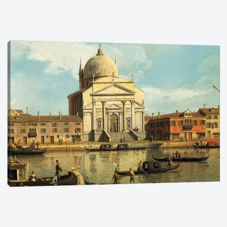 Churches of Redeemer and St James, Venice, Canvas Print #BMN9892} by Canaletto Canvas Artwork