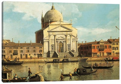 Churches of Redeemer and St James, Venice, Canvas Art Print