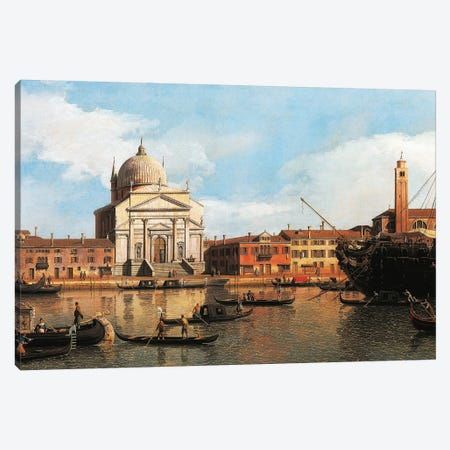 View of Church of Redeemer and St James, Venice, 1747-1755 Canvas Print #BMN9894} by Canaletto Canvas Art Print