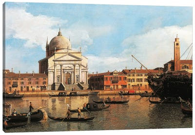 View of Church of Redeemer and St James, Venice, 1747-1755 Canvas Art Print