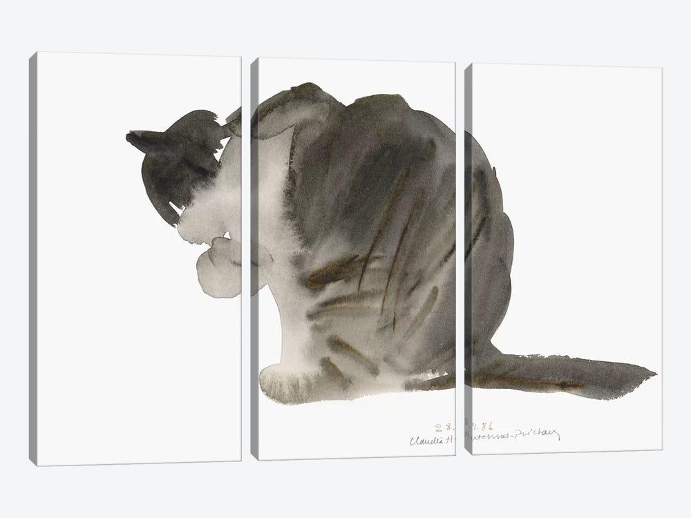 Cat, 1985  by Claudia Hutchins-Puechavy 3-piece Canvas Art Print