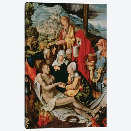 Lamentation for Christ, 1500-03  Canvas Print #BMN989} by Albrecht Dürer Art Print