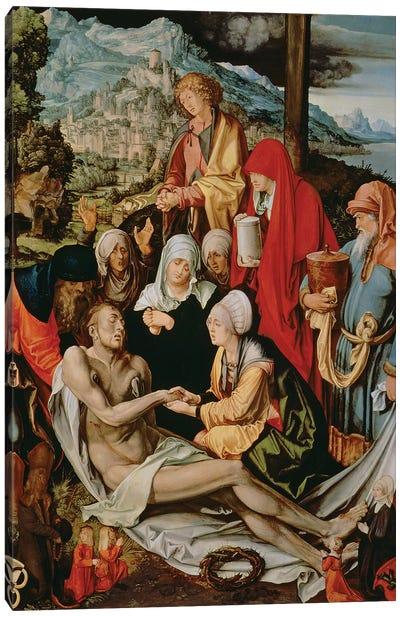Lamentation for Christ, 1500-03  Canvas Art Print