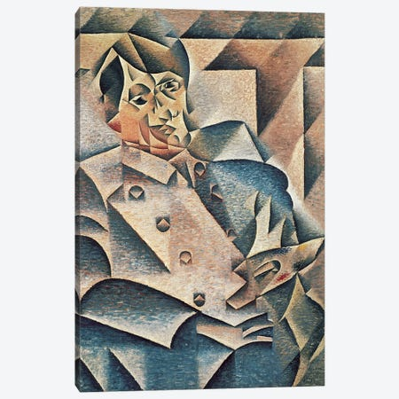 Portrait of Pablo Picasso, 1912 (oil on canvas) Canvas Print #BMN98} by Juan Gris Canvas Art Print