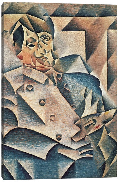 Portrait of Pablo Picasso, 1912 (oil on canvas) Canvas Art Print