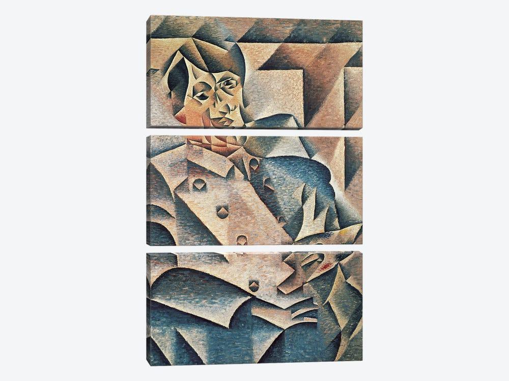Portrait of Pablo Picasso, 1912 (oil on canvas) by Juan Gris 3-piece Canvas Print