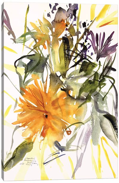 Marigold and Other Flowers, 2004  Canvas Art Print
