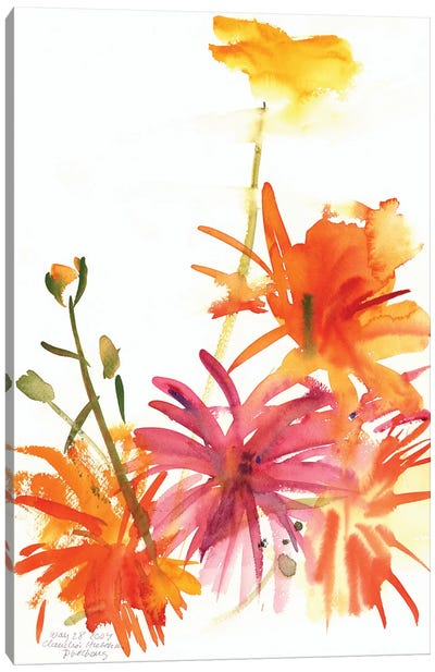 Marigolds and Other Flowers, 2004  Canvas Art Print