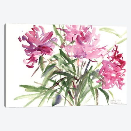 Peonies, 2004  Canvas Print #BMN9909} by Claudia Hutchins-Puechavy Canvas Wall Art