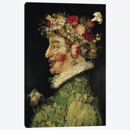 Spring, 1563 Canvas Print #BMN990} by Giuseppe Arcimboldo Canvas Artwork