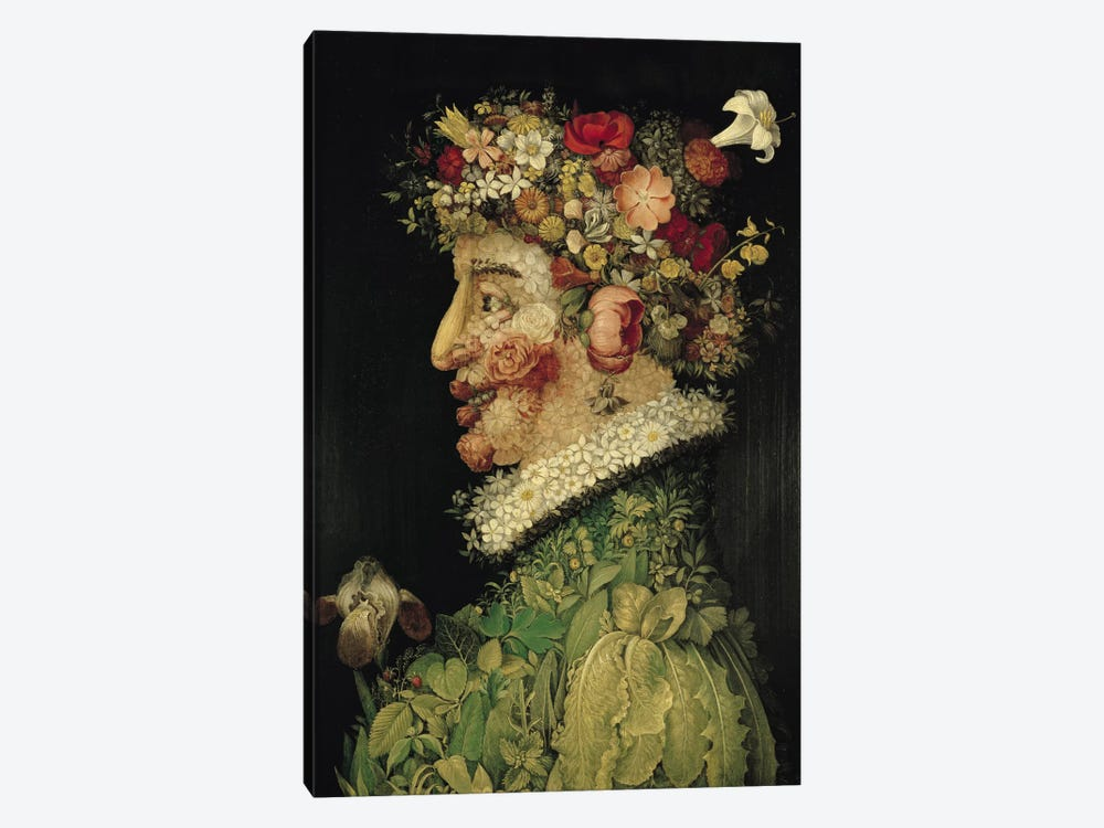Spring, 1563 by Giuseppe Arcimboldo 1-piece Canvas Wall Art