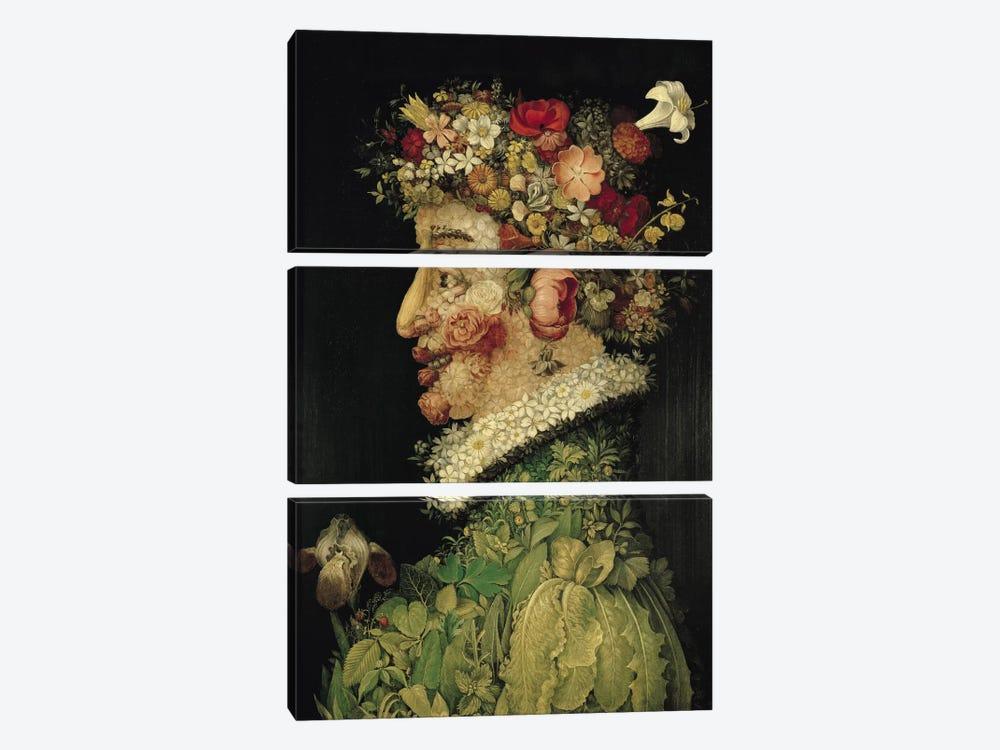Spring, 1563 by Giuseppe Arcimboldo 3-piece Canvas Artwork