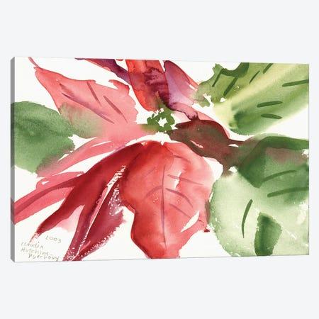 Poinsettia, 2003  Canvas Print #BMN9911} by Claudia Hutchins-Puechavy Canvas Print