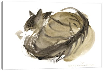 Sleeping Cat, 1985  Canvas Art Print