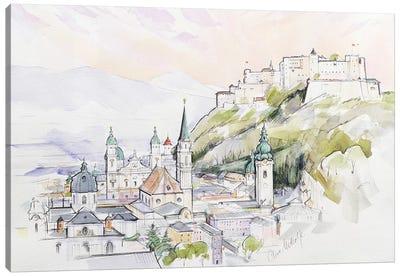 Salzburg Sunrise  Canvas Art Print