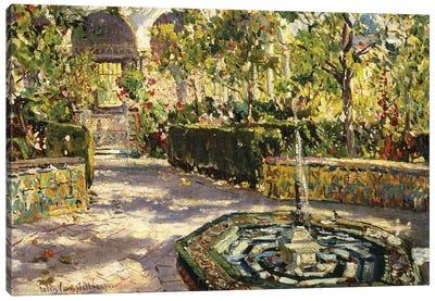 Alcazar Gardens, Seville,  Canvas Art Print