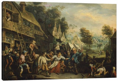 Fair in Flanders, by Cornelis Dusart  Canvas Art Print