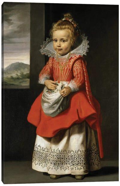 Portrait of the artist's daughter, Magdalena de Vos, c.1623-24  Canvas Art Print
