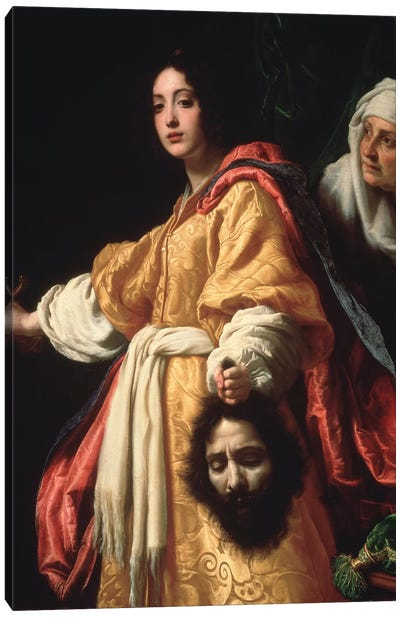 Judith and the Head of Holofernes Canvas Art Print