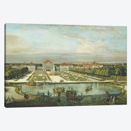Nymphenburg Palace, Munich, c.1761  Canvas Print #BMN993} by Bernardo Bellotto Canvas Artwork