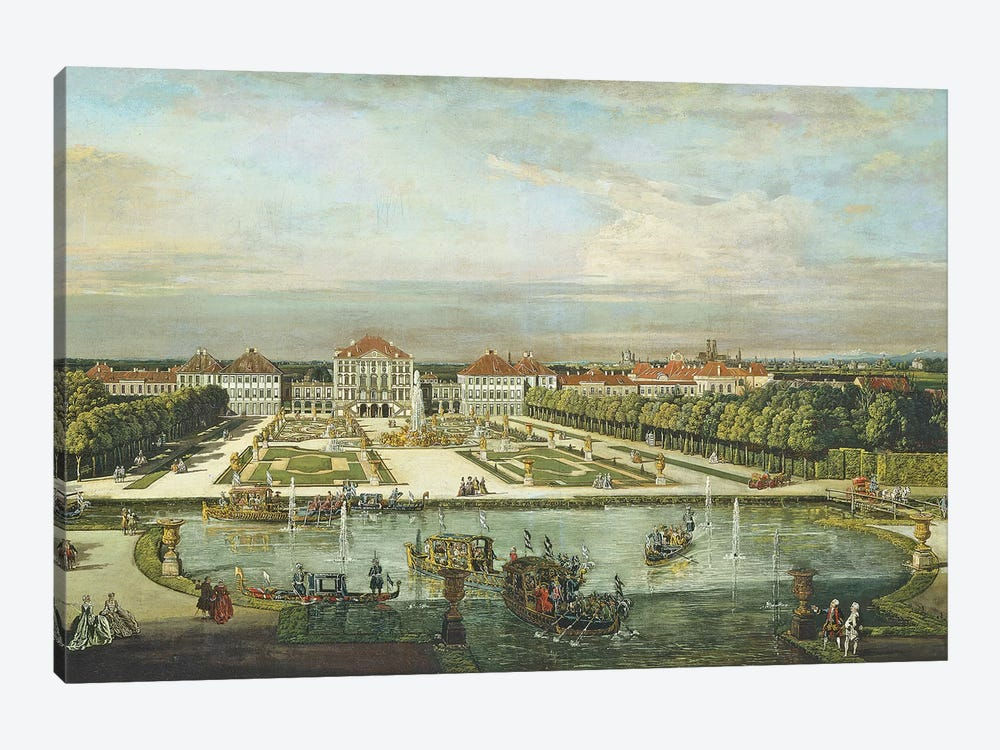 Nymphenburg Palace, Munich, c.1761  by Bernardo Bellotto 1-piece Canvas Print