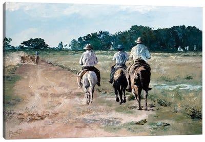On Horseback, 2010  Canvas Art Print