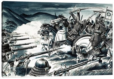 The battle of Nagashino in 1575 Canvas Art Print