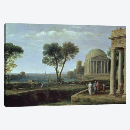 Landscape with Aeneas at Delos, 1672  Canvas Print #BMN994} by Claude Lorrain Art Print