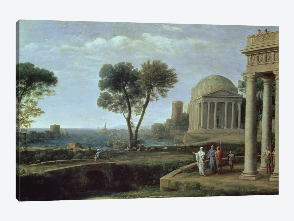 Landscape with Aeneas at Delos, 1672  by Claude Lorrain 1-piece Canvas Artwork