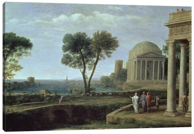 Landscape with Aeneas at Delos, 1672  Canvas Art Print