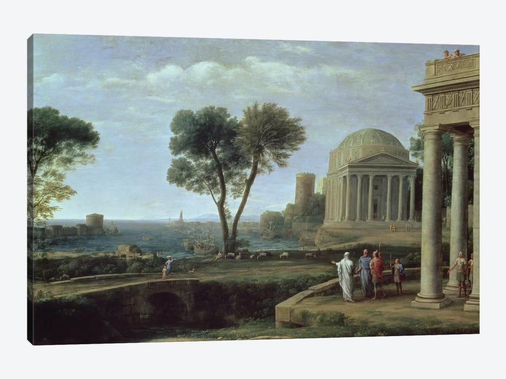 Landscape with Aeneas at Delos, 1672  by Claude Lorrain 1-piece Canvas Artwork