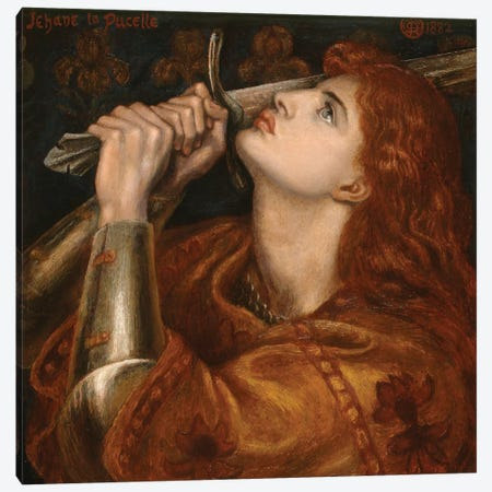 Joan of Arc, 1882  Canvas Print #BMN9956} by Dante Gabriel Charles Rossetti Canvas Artwork